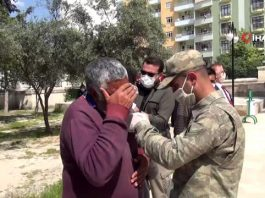Hakkari'de nöbet sırasında şehit olan asker Kızıltepe'de toprağa verildi